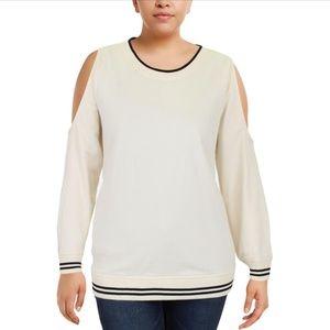 Ralph Lauren Plus Cold Shoulder Sweatshirt Crew
